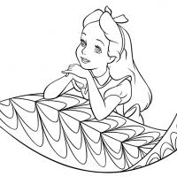 Printable Alice Coloring Page - Printable Disney - Free Printable Coloring Pages