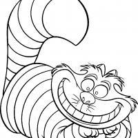 Printable Alice in Wonderland- Cheshire Cat - Printable Disney - Free Printable Coloring Pages