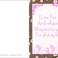 Printable All My Love For All My Life - Printable Valentines - Free Printable Cards