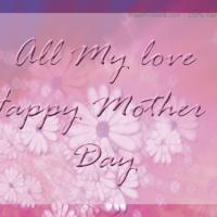 Printable All My Love Postcard - Printable Mothers Day Cards - Free Printable Cards