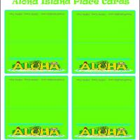 Printable Aloha Island Place Cards - Printable Place Cards - Free Printable Cards