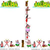 Printable Aloha Luau Notepad - Printable Stationary - Free Printable Activities