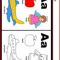 Printable Alphabet A Coloring Worksheet - Printable Kindergarten Worksheets and Lessons - Free Printable Worksheets