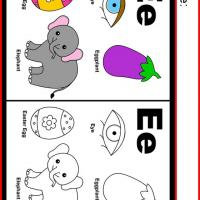 Printable Alphabet E Coloring Worksheet - Printable Kindergarten Worksheets and Lessons - Free Printable Worksheets
