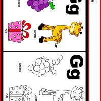 Printable Alphabet G Coloring Worksheet - Printable Kindergarten Worksheets and Lessons - Free Printable Worksheets