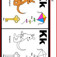 Alphabet K Coloring Worksheet