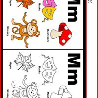 Alphabet M Coloring Worksheet