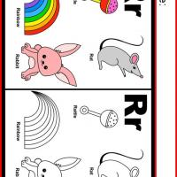 Alphabet R Coloring Worksheet
