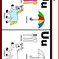 Alphabet U Coloring Worksheet
