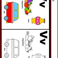 Alphabet V Coloring Worksheet