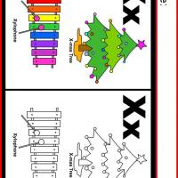 Alphabet X Coloring Worksheet
