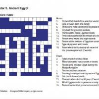 Ancient Egypt Crossword