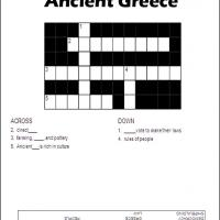 Printable Ancient Greece - Printable Crosswords - Free Printable Games