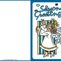 Printable Angel Singing Greeting Card - Printable Christmas Cards - Free Printable Cards