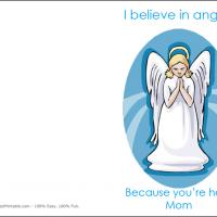 Printable Angels Are Disguised As Mothers - Printable Mothers Day Cards - Free Printable Cards
