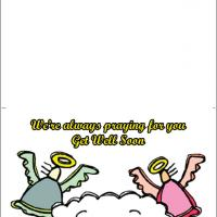 Angels Get Well Soon Card