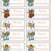 Printable Angels Gift Tags - Printable Gift Cards - Free Printable Cards