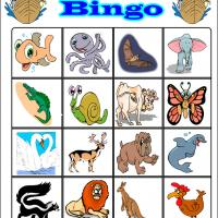 Printable Fun Cartoon Animals Bingo 1 - Printable Bingo - Free Printable Games