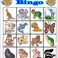 Printable Fun Cartoon Animals Bingo 2 - Printable Bingo - Free Printable Games