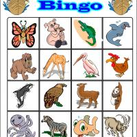 Fun Cartoon Animals Bingo 3