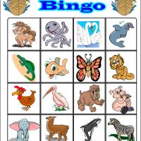 Fun Cartoon Animals Bingo 4