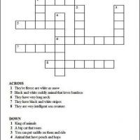 Animal Crossword For Kids
