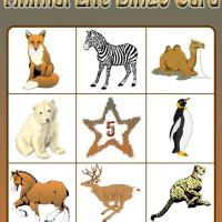 Animal Life Bingo Card 5