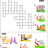 Printable Animal Picture Crossword - Printable Crosswords - Free Printable Games