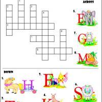 Animal Picture Crossword