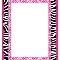 Animal Print Border Blank Card Invitation