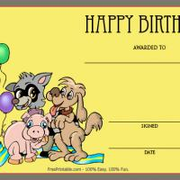 Printable Animals And More Balloons Birthday Award - Printable Awards - Misc Printables
