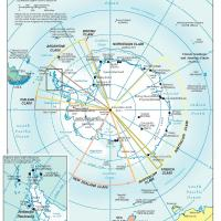 Printable Antarctica Political Map - Printable Maps - Misc Printables