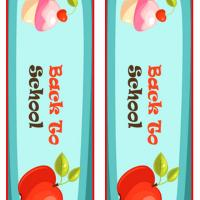 Apple and Cupcake Back to School Bookmark