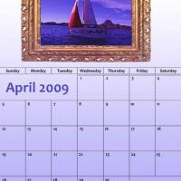 Printable April 2009 Oil Painting Calendar - Printable Monthly Calendars - Free Printable Calendars