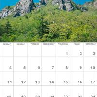 Printable April 2010 Nature Calendar - Printable Monthly Calendars - Free Printable Calendars