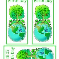 Printable April 22 Earth Day Bookmarks - Printable Bookmarks - Free Printable Crafts