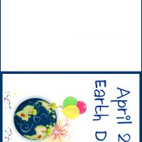 Printable April 22 Earth Day Card - Printable Greeting Cards - Free Printable Cards