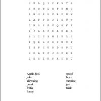 Printable April Fools Word Search - Printable Word Search - Free Printable Games
