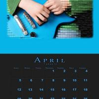 Printable April Music Theme Calendar - Printable Calendar Pages - Free Printable Calendars
