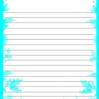 Aqua Colored Leaves Stationery