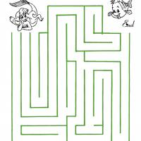 Printable Ariel And Flounder Maze - Printable Mazes - Free Printable Games