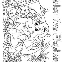 Artist Elephant Coloring Sheet
