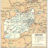 Asia- Afghanistan Political Map