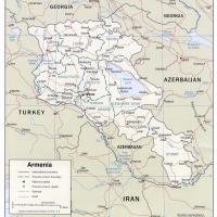 Asia- Armenia Political Map
