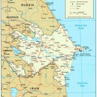 Printable Asia- Azerbaijan Political Map - Printable Maps - Misc Printables