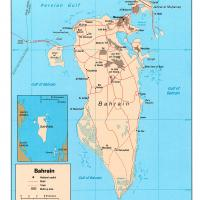 Printable Asia- Bahrain Political Map - Printable Maps - Misc Printables