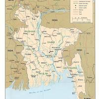 Asia- Bangladesh Political Map