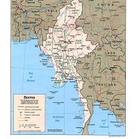 Asia- Burma Political Map