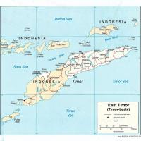 Asia- East Timor Political Map