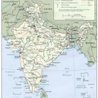 Printable Asia- India Political Map - Printable Maps - Misc Printables